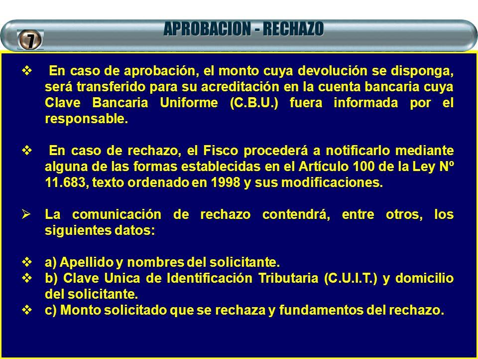 APROBACION - RECHAZO 7.