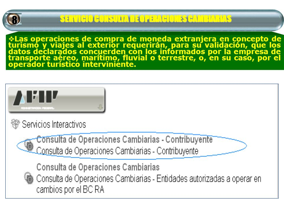 SERVICIO CONSULTA DE OPERACIONES CAMBIARIAS