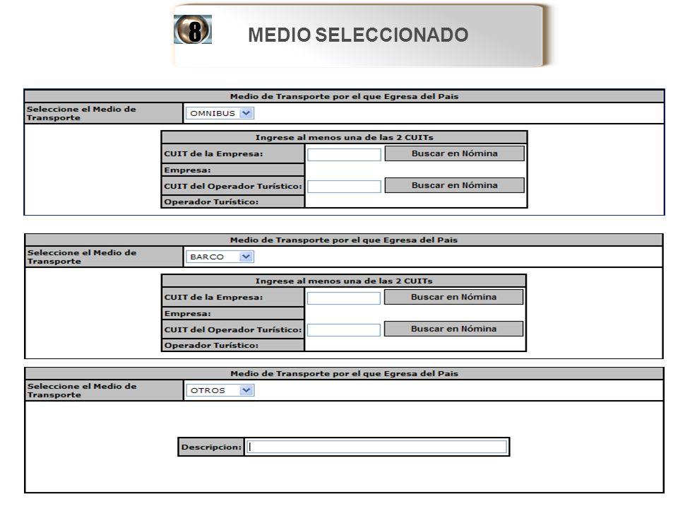 MEDIO SELECCIONADO 8 60