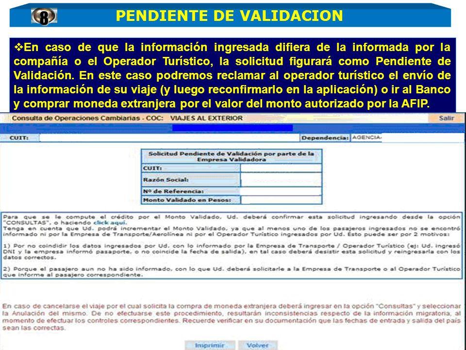 PENDIENTE DE VALIDACION
