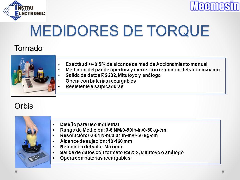 MEDIDORES DE TORQUE Tornado Orbis