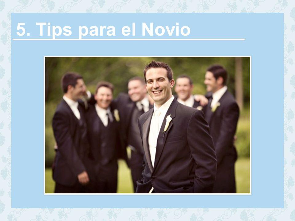 5. Tips para el Novio