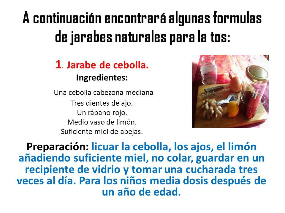3 jarabes para la tos la tos se produce por contracci n for Combinaciones y dosis en la preparacion de la medicina natural