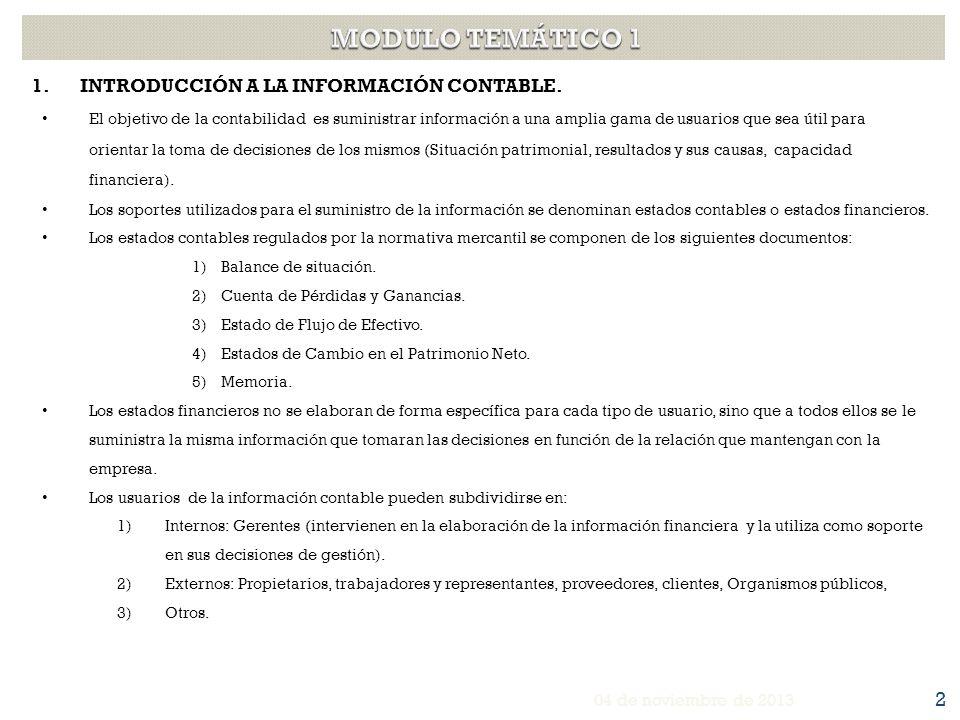 MODULO TEMÁTICO 1 INTRODUCCIÓN A LA INFORMACIÓN CONTABLE.