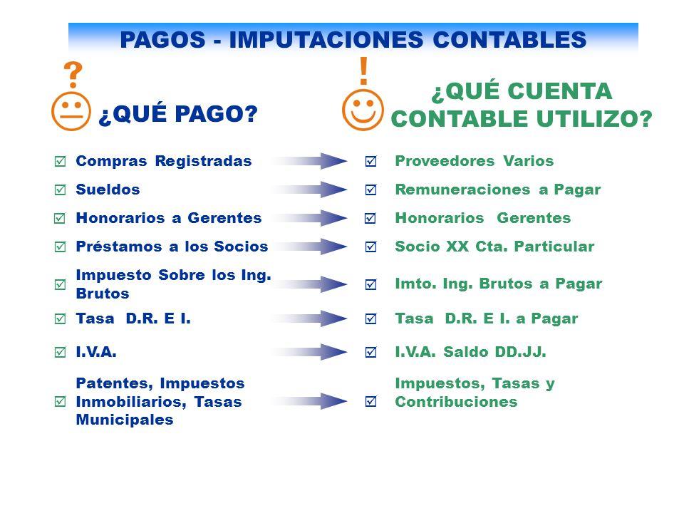 PAGOS - IMPUTACIONES CONTABLES
