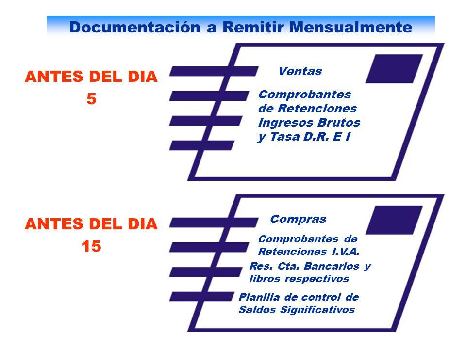 Documentación a Remitir Mensualmente