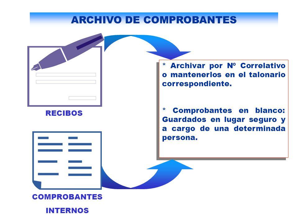 ARCHIVO DE COMPROBANTES