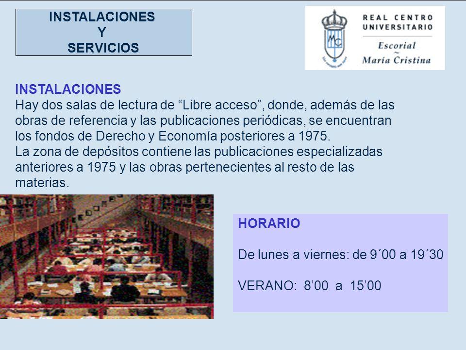 INSTALACIONES Y. SERVICIOS.