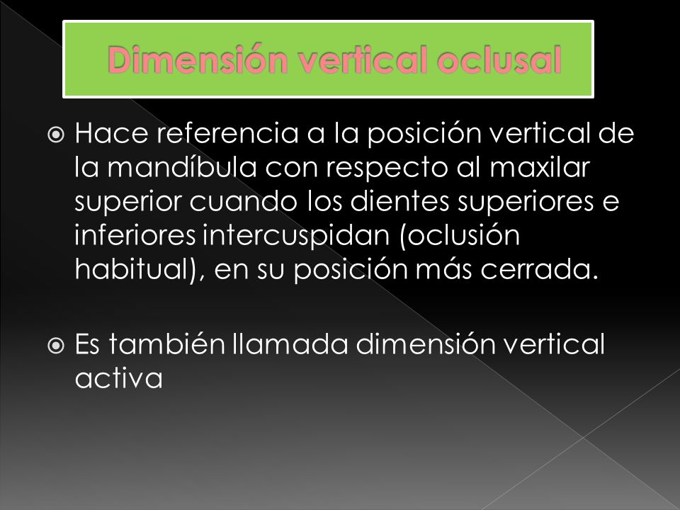 Dimensión vertical oclusal