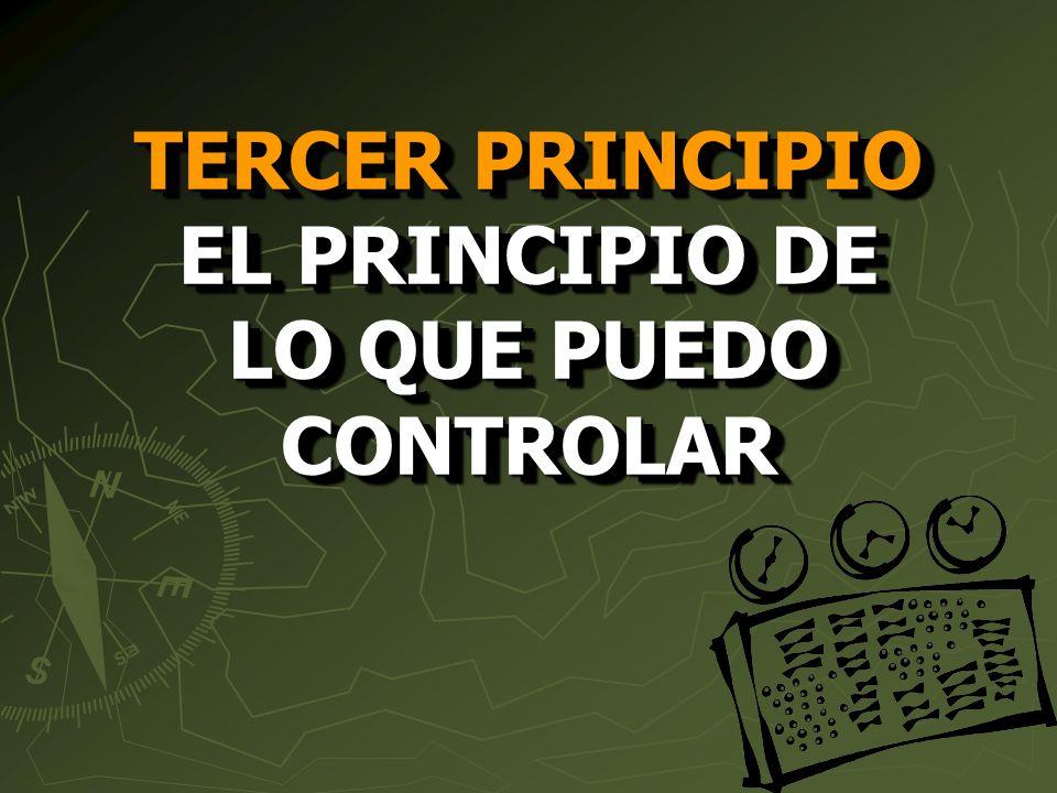 TERCER PRINCIPIO EL PRINCIPIO DE LO QUE PUEDO CONTROLAR