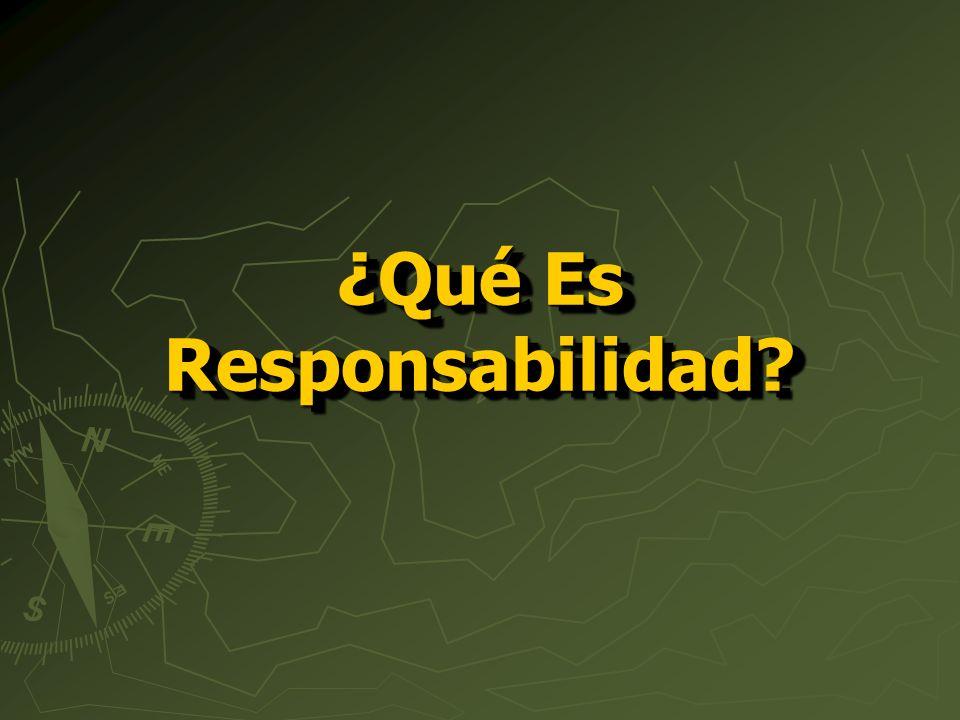 ¿Qué Es Responsabilidad