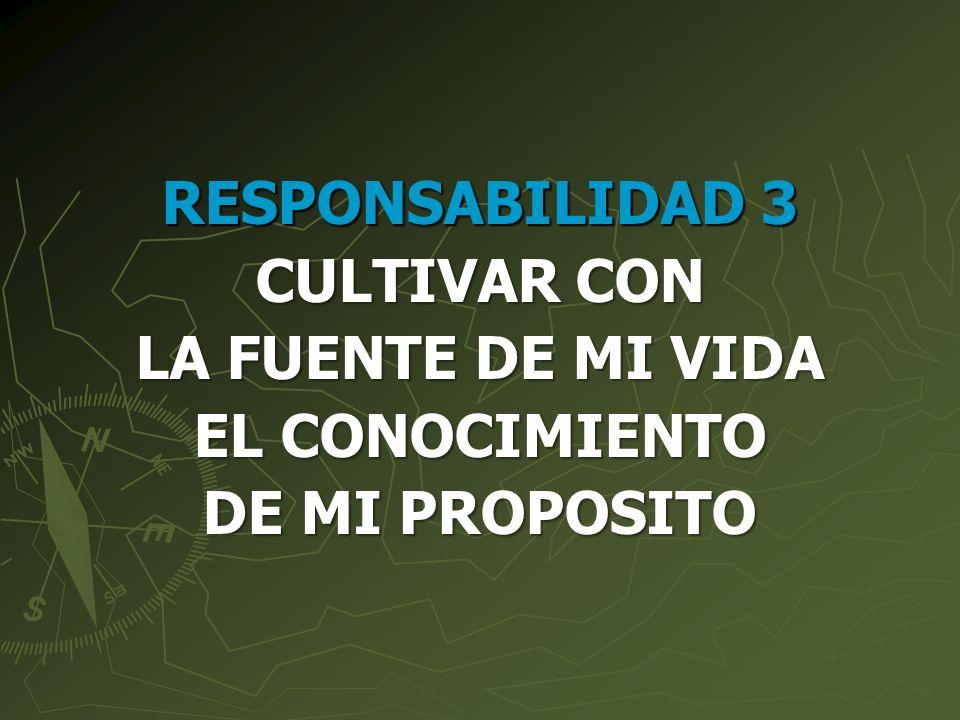 RESPONSABILIDAD 3 CULTIVAR CON LA FUENTE DE MI VIDA EL CONOCIMIENTO DE MI PROPOSITO