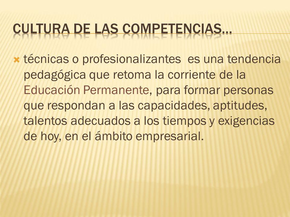 Cultura de las competencias…
