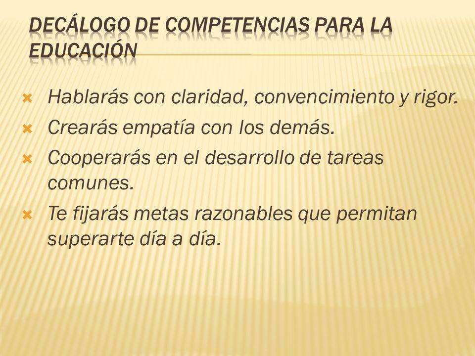 DECÁLOGO DE COMPETENCIAS PARA LA EDUCACIÓN