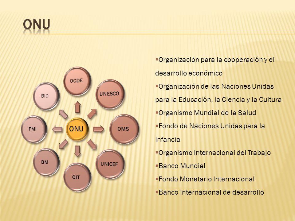 ONU Organización para la cooperación y el desarrollo económico