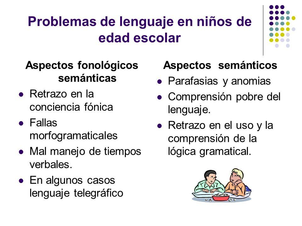 Problemas de lenguaje en niños de edad escolar