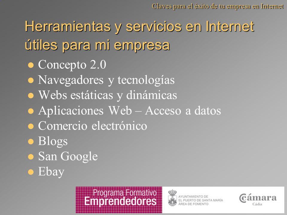 Herramientas y servicios en Internet útiles para mi empresa