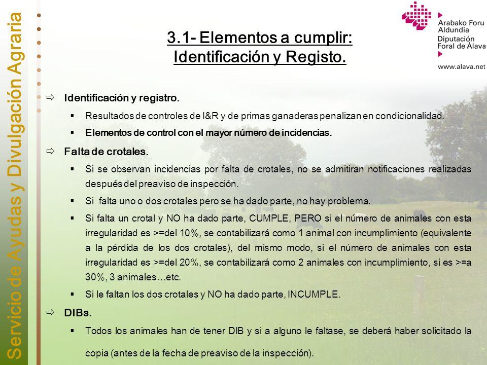 3.1- Elementos a cumplir: Identificación y Registo.