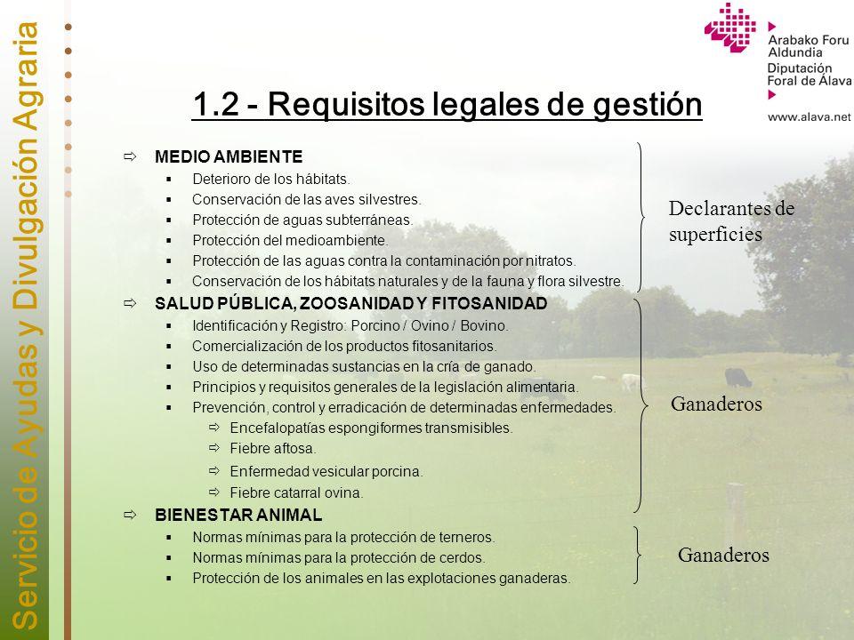 1.2 - Requisitos legales de gestión