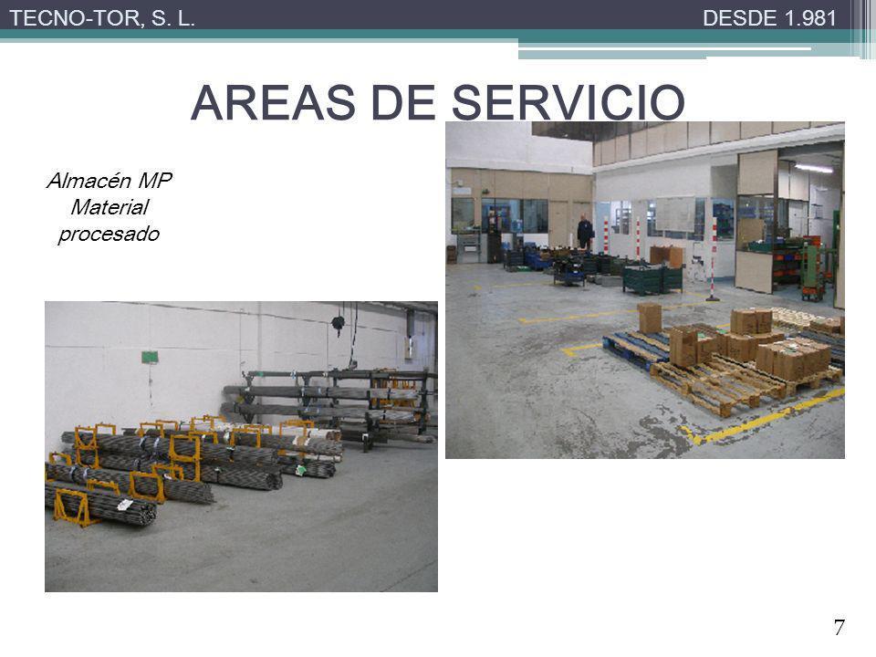 AREAS DE SERVICIO TECNO-TOR, S. L. DESDE 1.981 Almacén MP