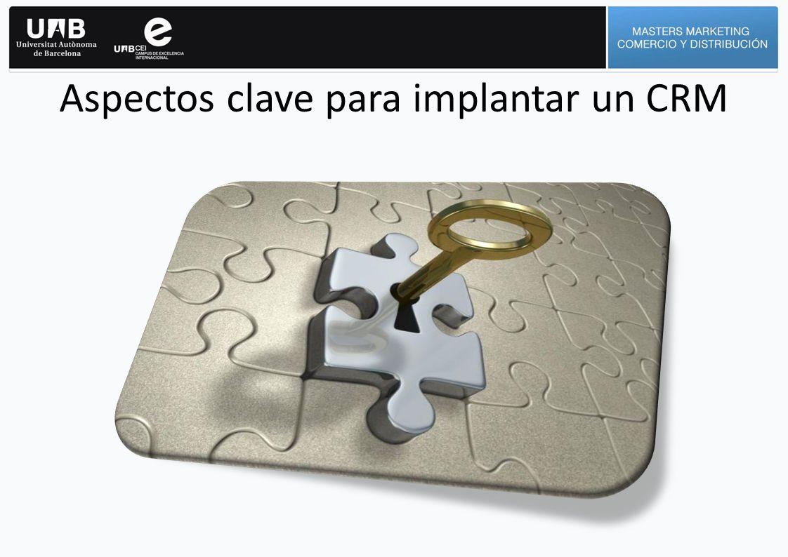 Aspectos clave para implantar un CRM