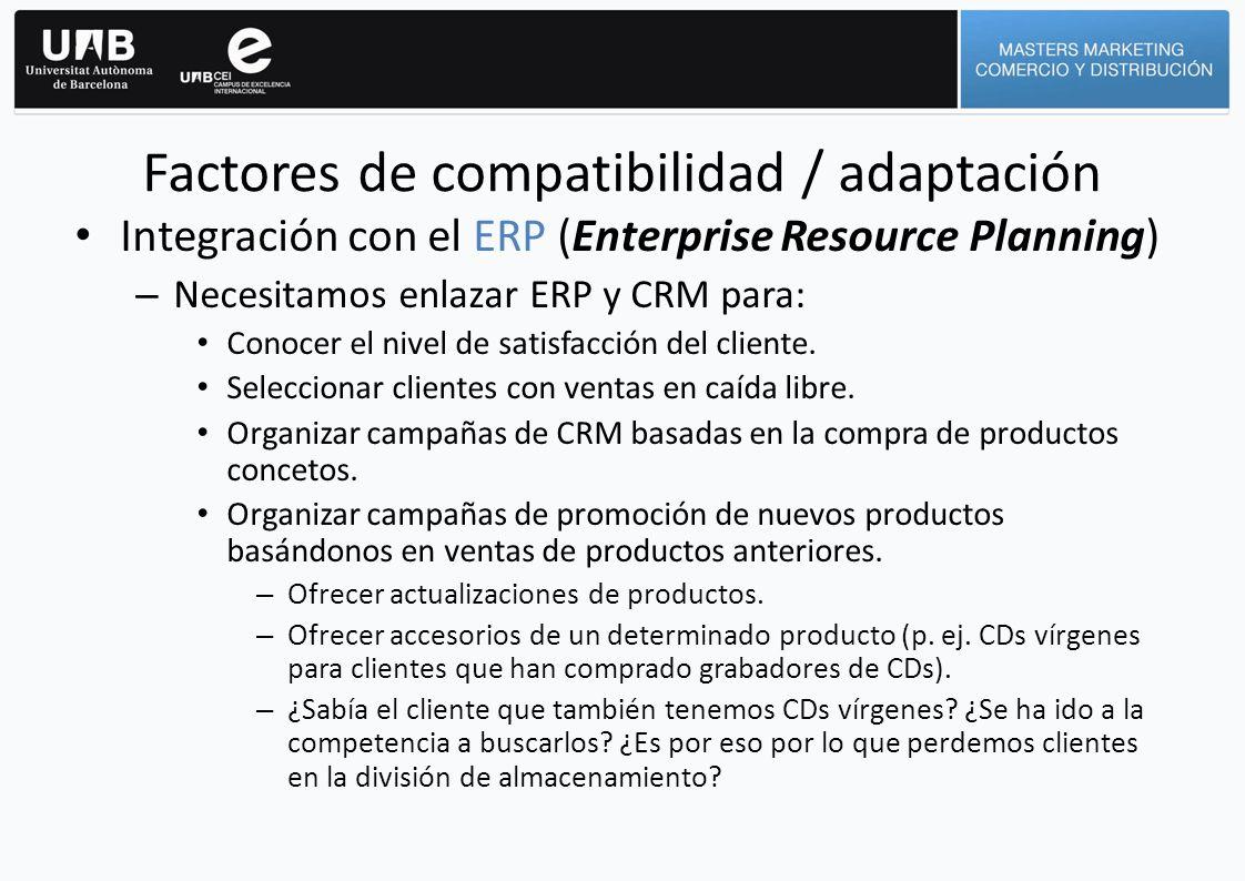 Factores de compatibilidad / adaptación