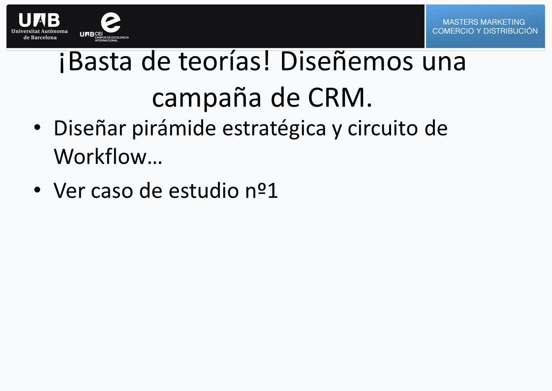 ¡Basta de teorías! Diseñemos una campaña de CRM.