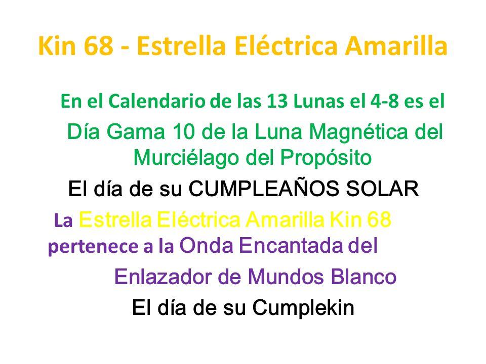Kin 68 - Estrella Eléctrica Amarilla