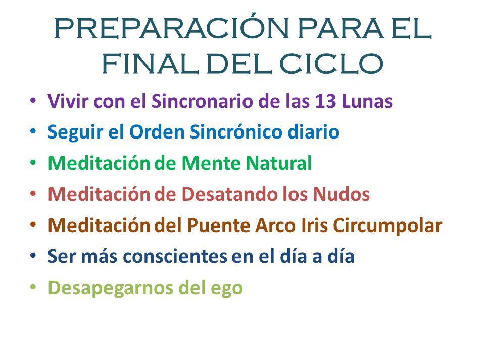 PREPARACIÓN PARA EL FINAL DEL CICLO