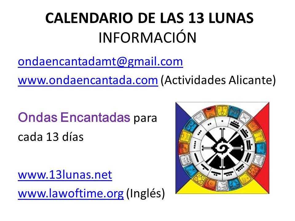 CALENDARIO DE LAS 13 LUNAS INFORMACIÓN