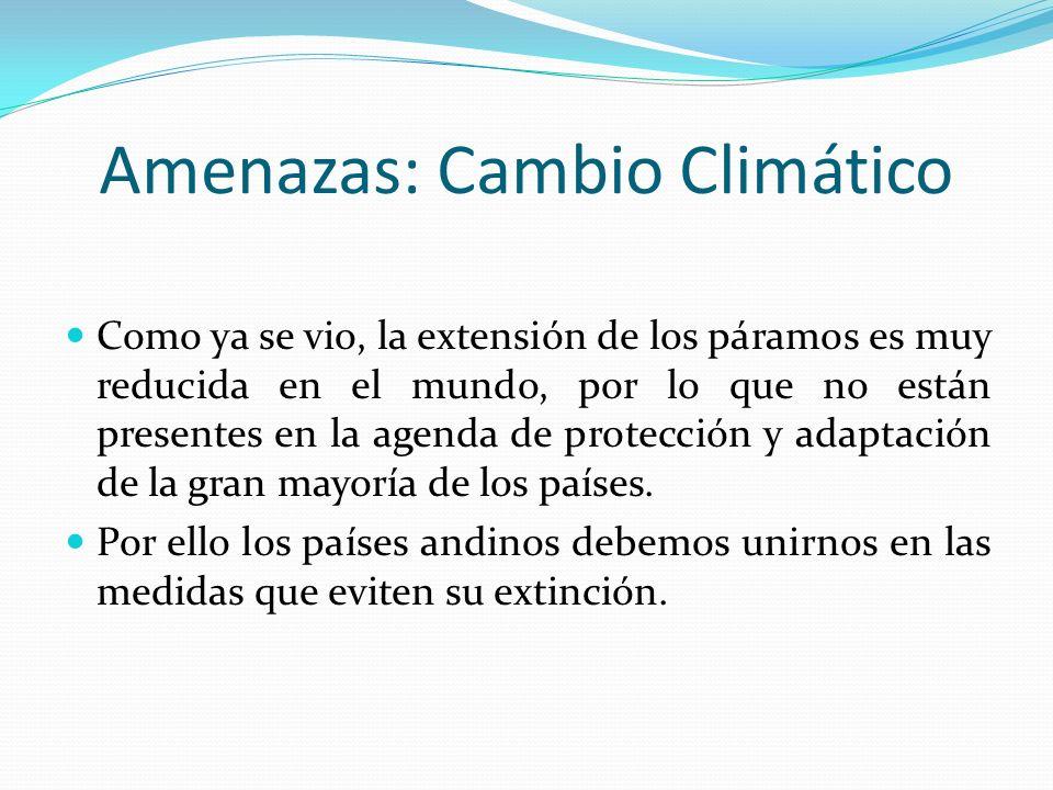 Amenazas: Cambio Climático