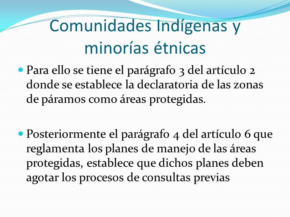 Comunidades Indígenas y minorías étnicas