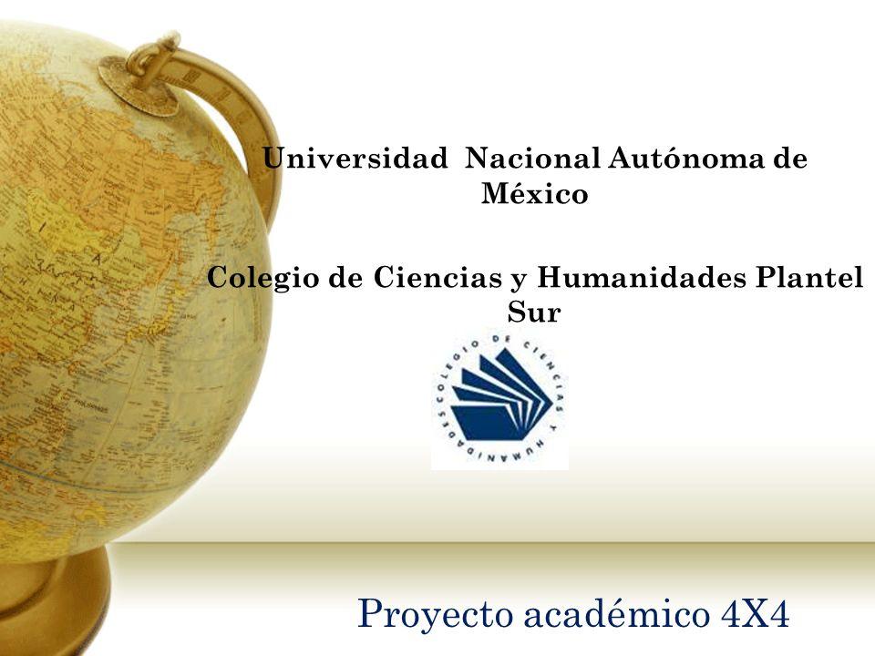 Proyecto académico 4X4 Universidad Nacional Autónoma de México