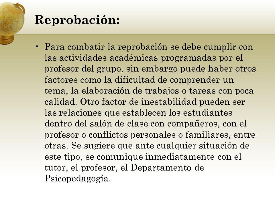 Reprobación: