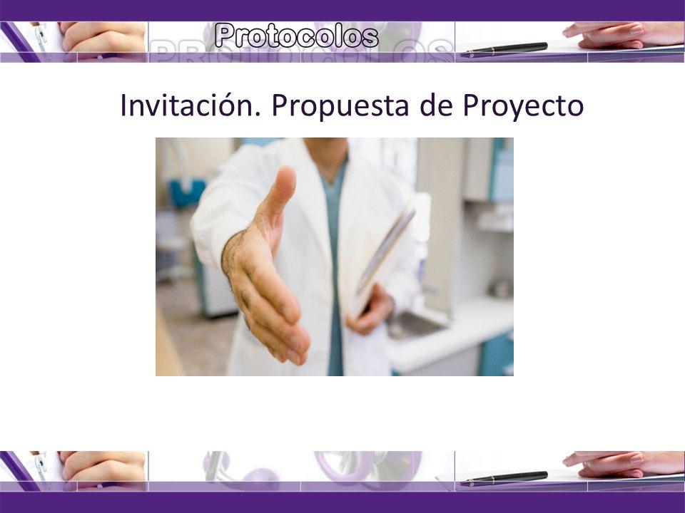 Invitación. Propuesta de Proyecto