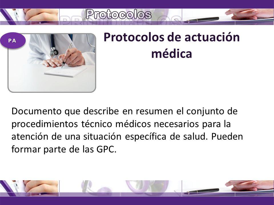 Protocolos de actuación médica
