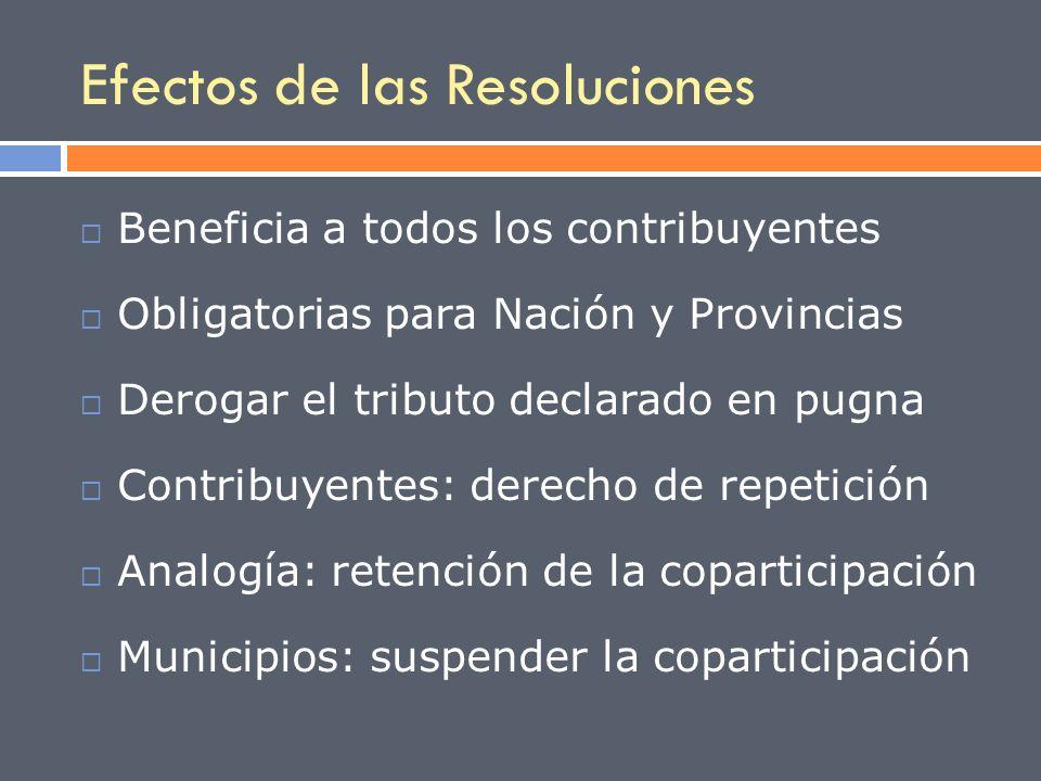 Efectos de las Resoluciones