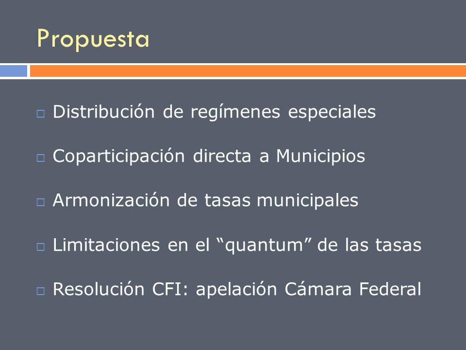 Propuesta Distribución de regímenes especiales