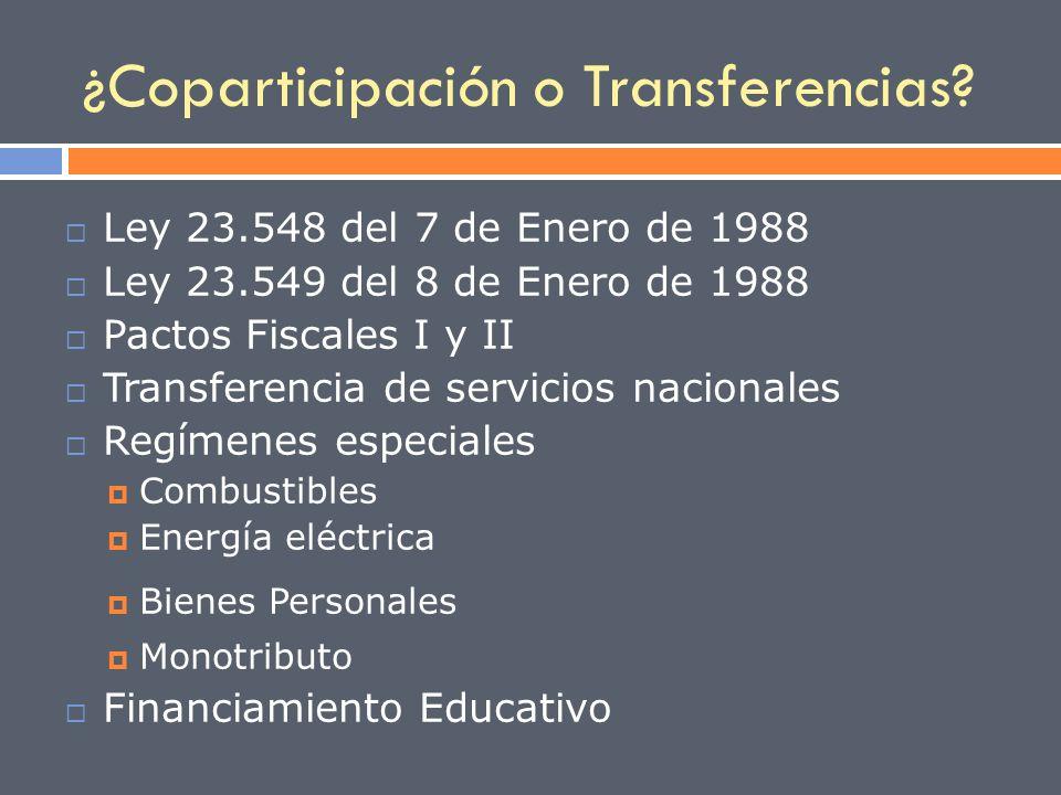 ¿Coparticipación o Transferencias