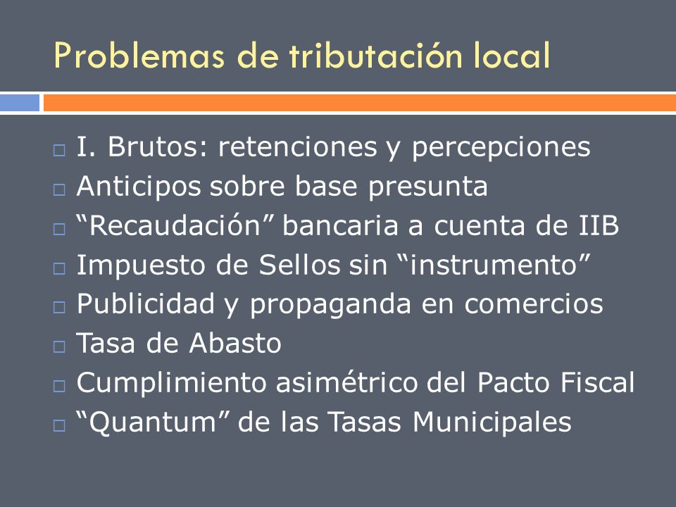 Problemas de tributación local