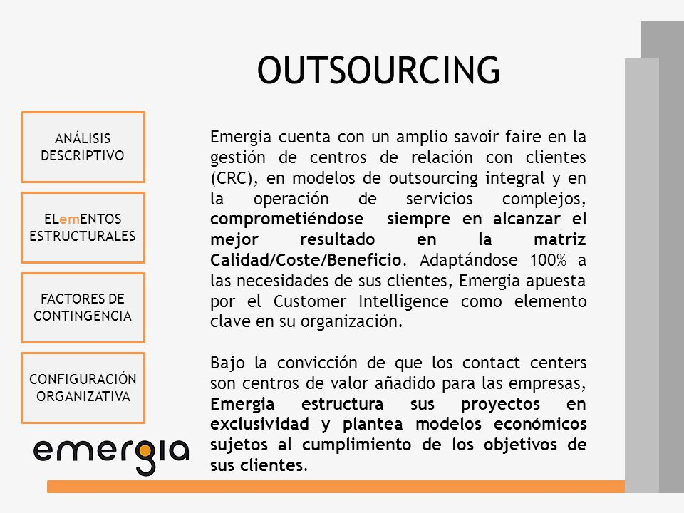 OUTSOURCING ANÁLISIS DESCRIPTIVO.