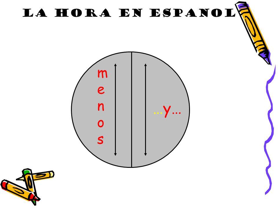 LA HORA EN ESPANOL LA HORA …y… m e n o s