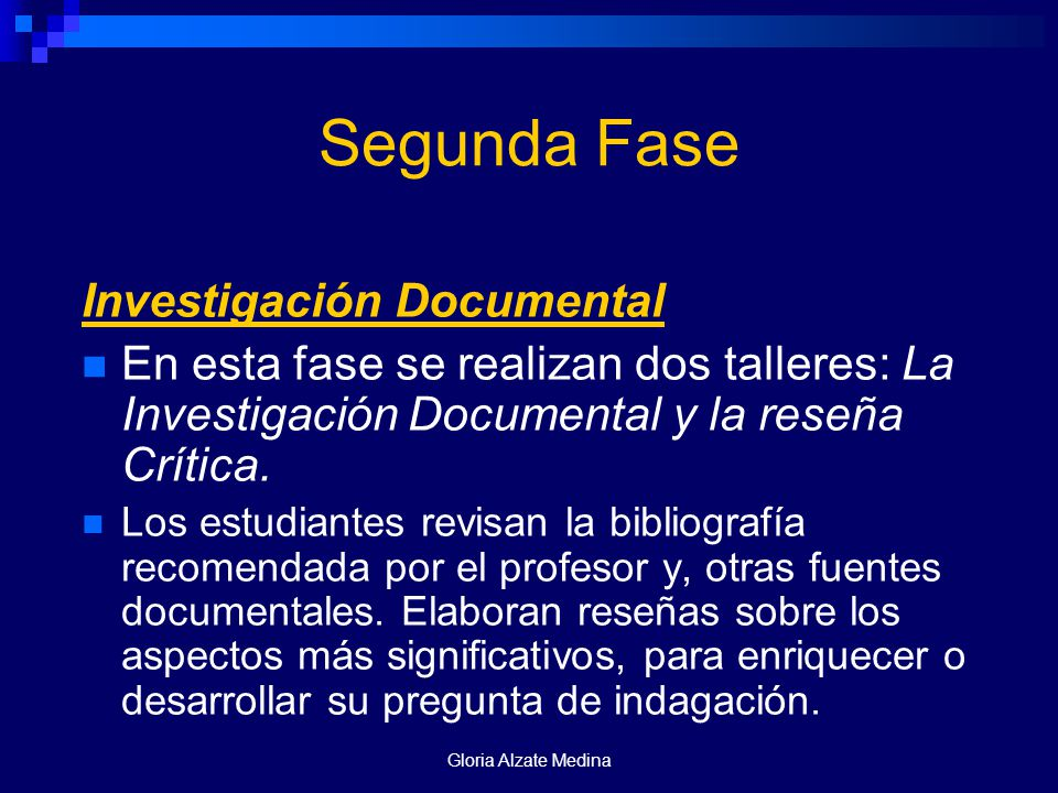Segunda Fase Investigación Documental