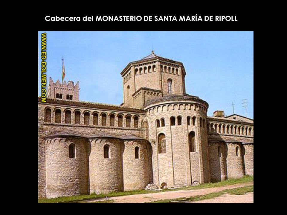 Cabecera del MONASTERIO DE SANTA MARÍA DE RIPOLL