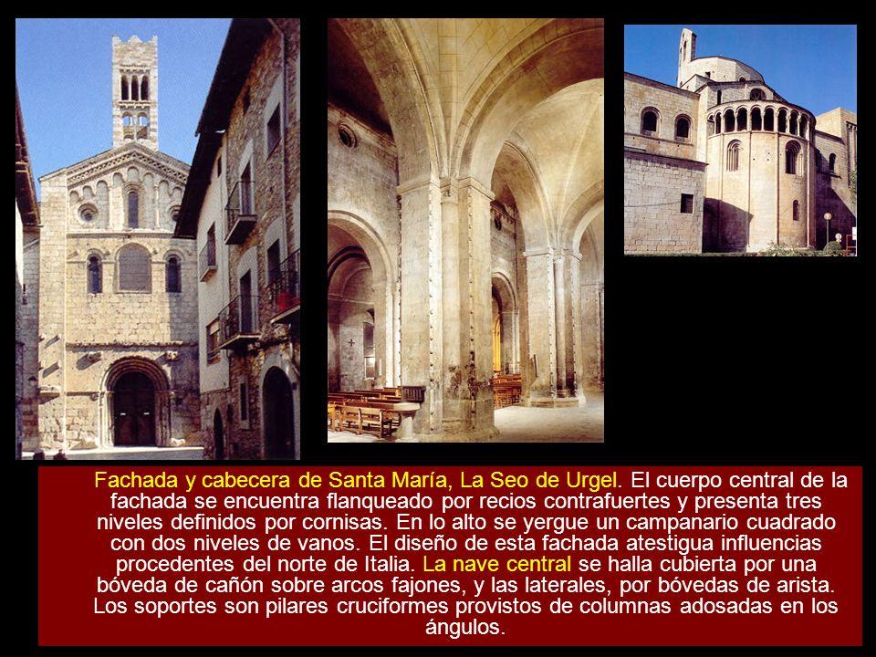 Fachada y cabecera de Santa María, La Seo de Urgel