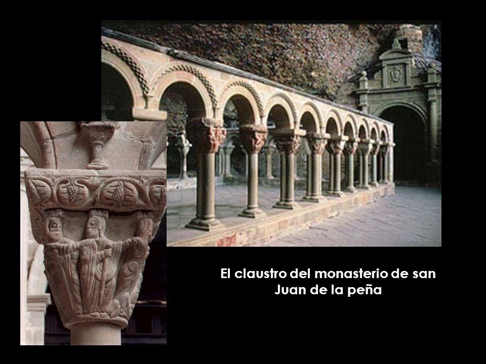 El claustro del monasterio de san Juan de la peña