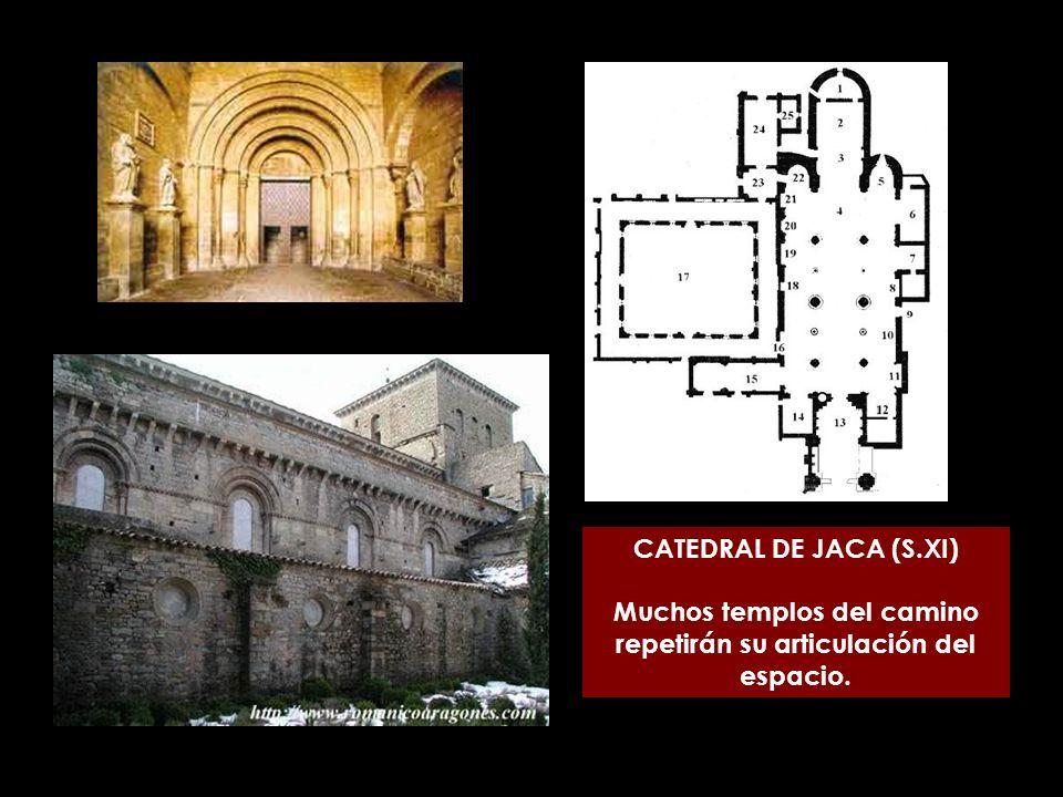 Muchos templos del camino repetirán su articulación del espacio.