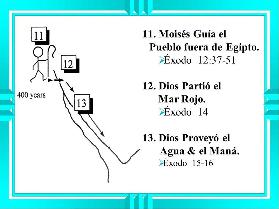11. Moisés Guía el Pueblo fuera de Egipto. Éxodo 12:37-51