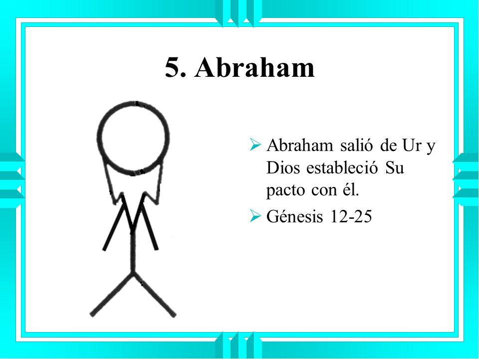 5. Abraham Abraham salió de Ur y Dios estableció Su pacto con él.