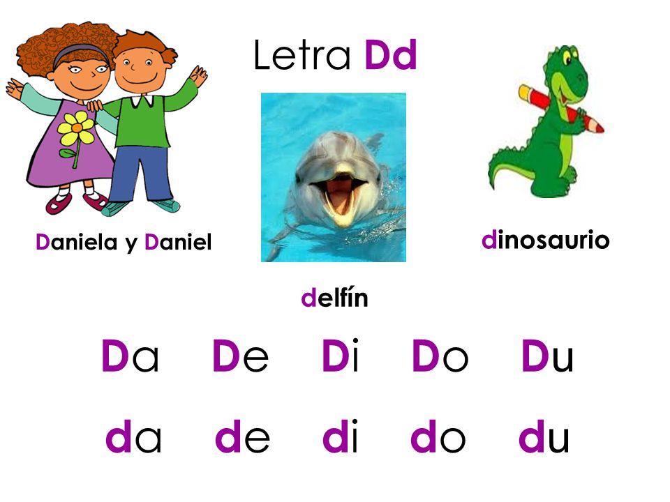 Da De Di Do Du da de di do du Letra Dd dinosaurio delfín